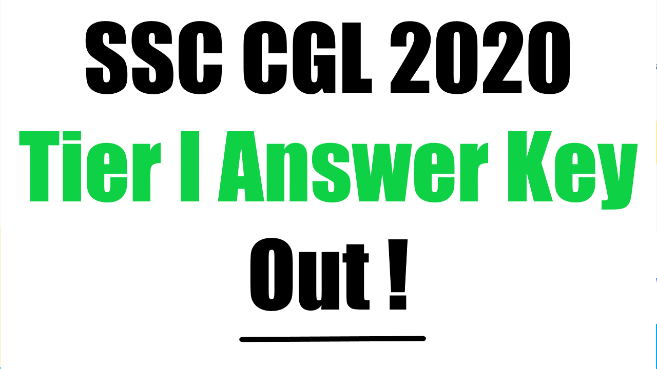 SSC released answer key for CGL 2020